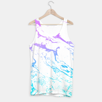 Thumbnail image of White marble Purple blue ombre watercolor mermaid Tank Top, Live Heroes