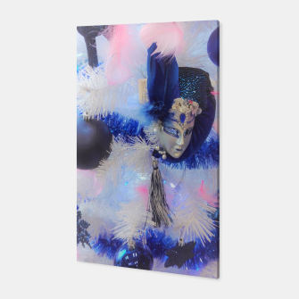 Thumbnail image of Christmas tree with a Venetian mask Canvas, Live Heroes