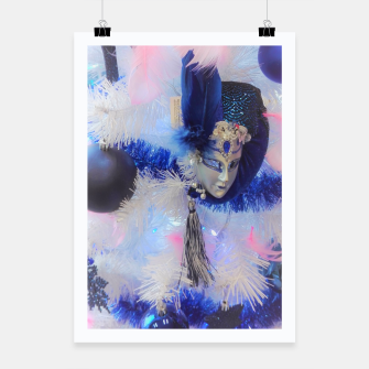 Thumbnail image of Christmas tree with a Venetian mask Plakat, Live Heroes