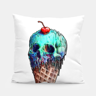 Thumbnail image of Ice Cream Skull Pillow, Live Heroes