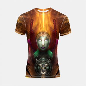 Thumbnail image of Riddian Queen Of Cosmic Fire Shortsleeve Rashguard, Live Heroes