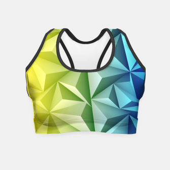 Thumbnail image of 3D Polygonal Design  Crop Top, Live Heroes
