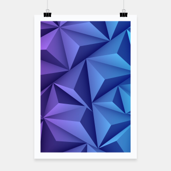 Thumbnail image of 3D Polygonal Design  Plakat, Live Heroes