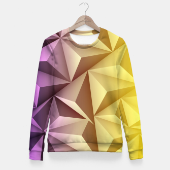Thumbnail image of 3D Polygonal Design  Taillierte Sweatshirt, Live Heroes