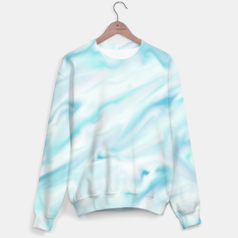 Thumbnail image of Light bluegreen smudge paint Sweater, Live Heroes