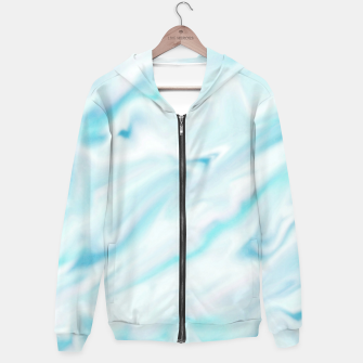 Thumbnail image of Light bluegreen smudge paint Hoodie, Live Heroes