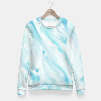 Thumbnail image of Light bluegreen smudge paint Fitted Waist Sweater, Live Heroes