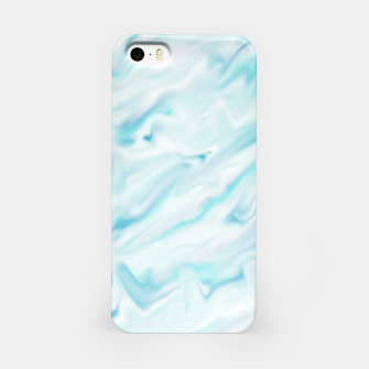 Thumbnail image of Light bluegreen smudge paint iPhone Case, Live Heroes