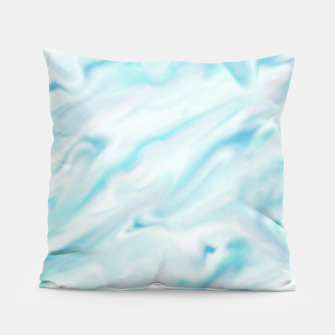 Thumbnail image of Light bluegreen smudge paint Pillow, Live Heroes