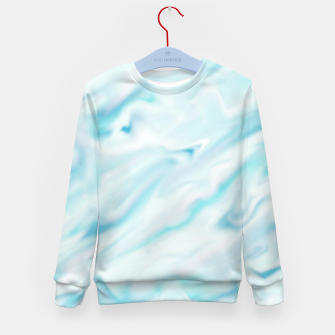 Thumbnail image of Light bluegreen smudge paint Kid's Sweater, Live Heroes