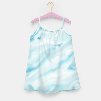 Thumbnail image of Light bluegreen smudge paint Girl's Dress, Live Heroes