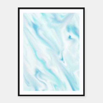 Thumbnail image of Light bluegreen smudge paint Framed poster, Live Heroes