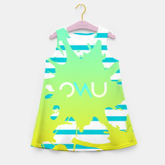 Thumbnail image of Paint Splatter Girl's Summer Dress, Live Heroes