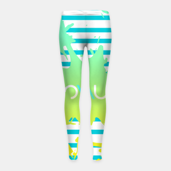 Thumbnail image of Paint Splatter Girl's Leggings, Live Heroes