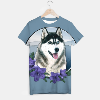 Thumbnail image of Husky Portrait - Graphic Style T-Shirt, Live Heroes