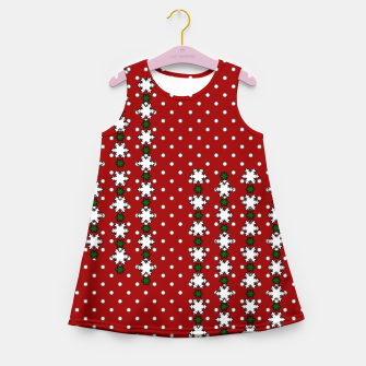 Thumbnail image of Winter Snowflakes Girl's Summer Dress, Live Heroes