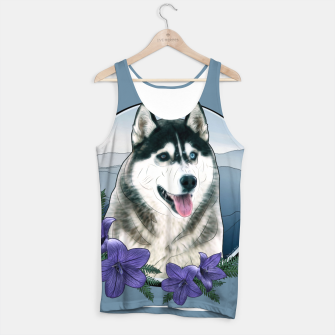 Thumbnail image of Husky Portrait - Graphic Style Muskelshirt , Live Heroes