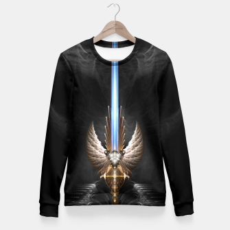 Thumbnail image of Angel Wing Sword Of Arkledious DGS Fitted Waist Sweater, Live Heroes