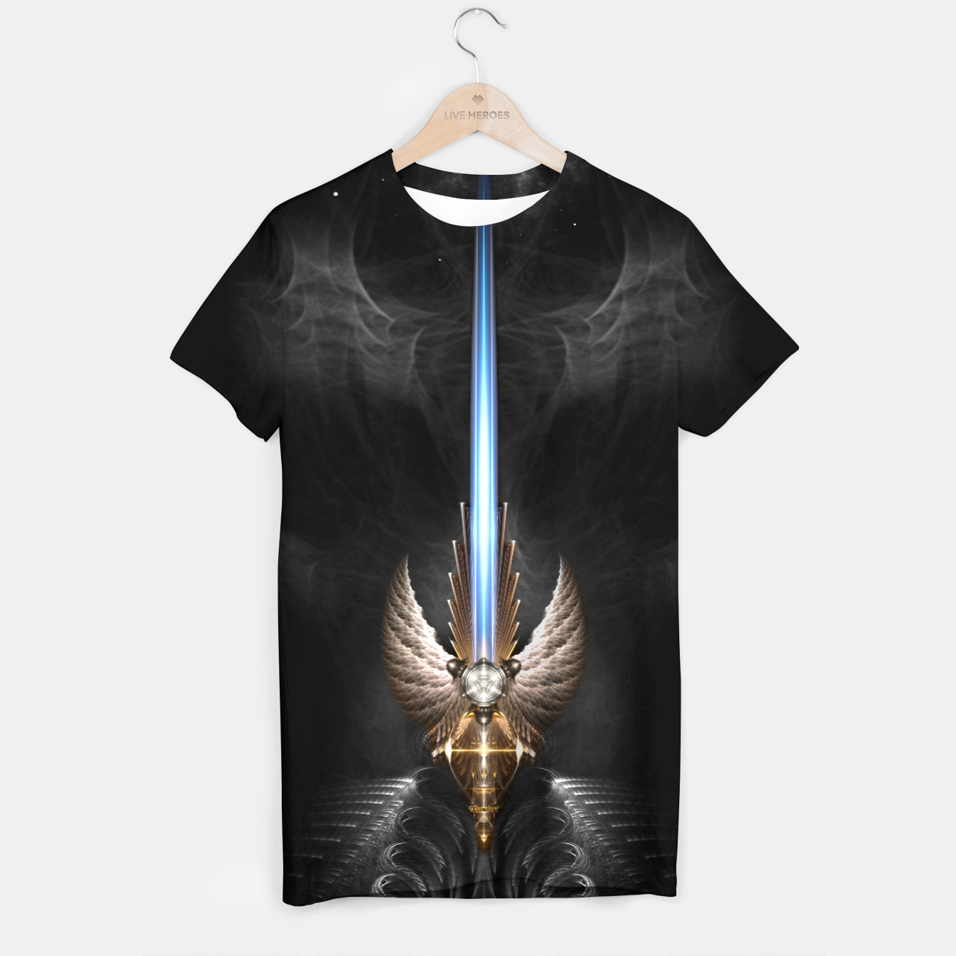 Image of Angel Wing Sword Of Arkledious DGS T-shirt - Live Heroes
