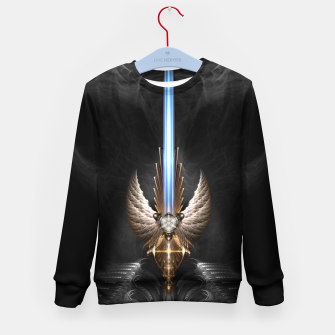 Thumbnail image of Angel Wing Sword Of Arkledious DGS Kid's Sweater, Live Heroes