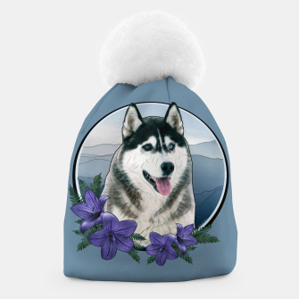 Thumbnail image of Husky Portrait - Graphic Style Mütze, Live Heroes