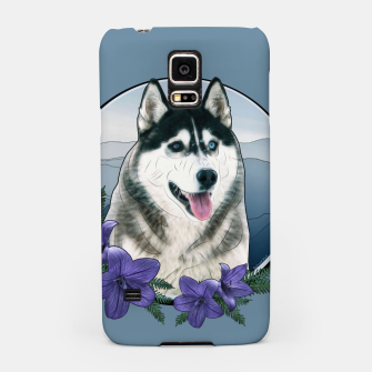Thumbnail image of Husky Portrait - Graphic Style Handyhülle für Samsung, Live Heroes