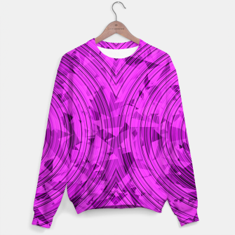 Thumbnail image of psychedelic geometric circle pattern abstract background in pink Sweater, Live Heroes