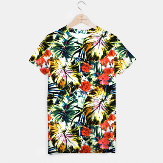 Thumbnail image of Tropical abstract foliage Camiseta, Live Heroes
