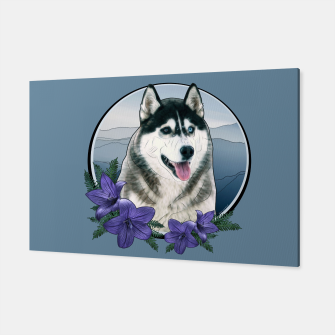 Thumbnail image of Husky Portrait - Graphic Style Canvas, Live Heroes
