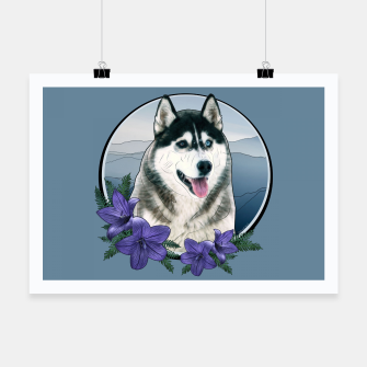 Thumbnail image of Husky Portrait - Graphic Style Plakat, Live Heroes