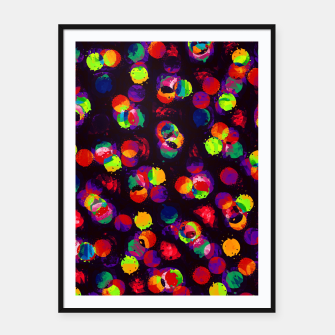 Thumbnail image of Fractal Rainbow Paint Splats  Framed poster, Live Heroes