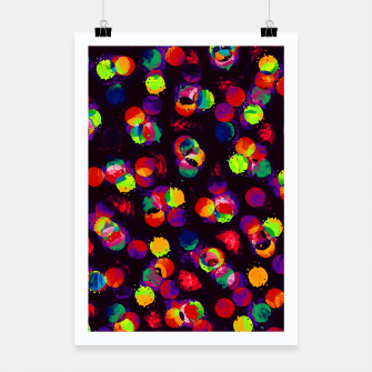 Thumbnail image of Fractal Rainbow Paint Splats  Poster, Live Heroes