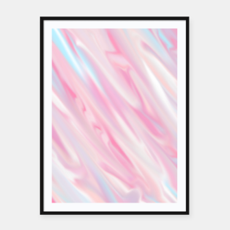 Thumbnail image of Cute pink smudge paint Plakaty w ramie , Live Heroes
