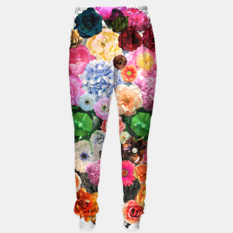 Thumbnail image of Floral Skull Sweatpants, Live Heroes