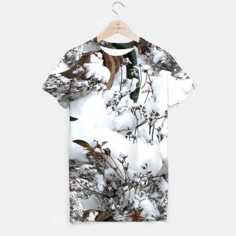 Thumbnail image of Snow Abstract Tee Shirt for Women, Live Heroes