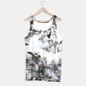 Miniatur Snow Abstract Tank Top for Women, Live Heroes