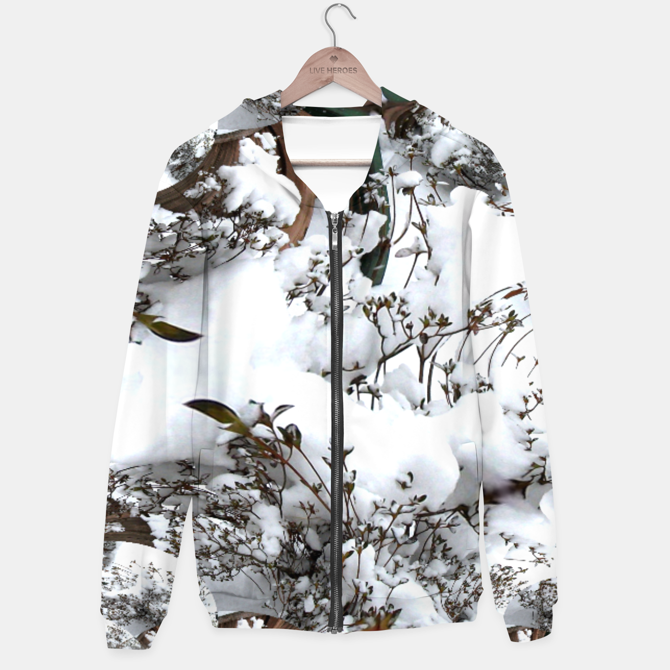 Image of Snow Abstract Hoodie for Men - Live Heroes