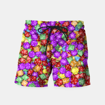 RPG Gamer Dice Swim Shorts thumbnail image