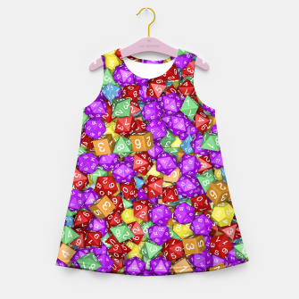 RPG Gamer Dice Girl's Summer Dress thumbnail image