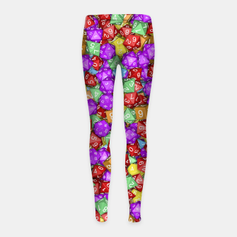RPG Gamer Dice Girl's Leggings thumbnail image
