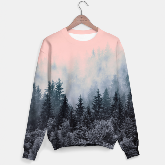 Forest in gray and pink Sudadera thumbnail image