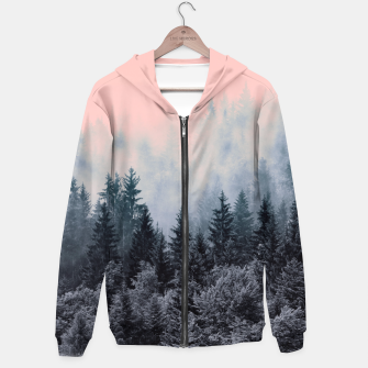 Thumbnail image of Forest in gray and pink Sudadera con capucha, Live Heroes