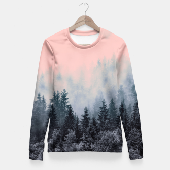 Miniaturka Forest in gray and pink Sudadera entallada, Live Heroes