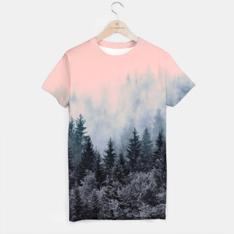 Miniature de image de Forest in gray and pink Camiseta, Live Heroes