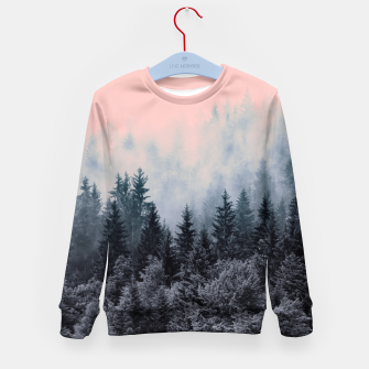 Forest in gray and pink Sudadera para niños thumbnail image