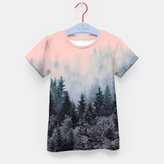 Forest in gray and pink Camiseta para niños thumbnail image