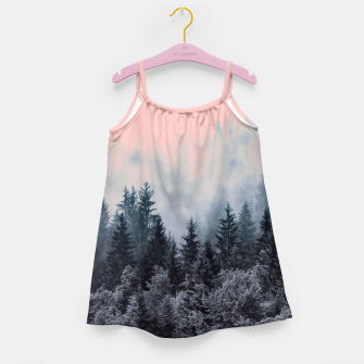 Forest in gray and pink Vestido para niñas thumbnail image