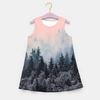 Thumbnail image of Forest in gray and pink Vestido de verano para niñas, Live Heroes