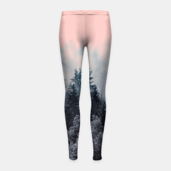 Forest in gray and pink Leggings para niña thumbnail image