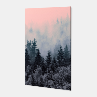 Forest in gray and pink Canvas thumbnail image